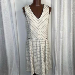41 Hawthorn striped v neck mini dress